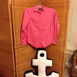 Lauren Ralph Lauren hot pink shirt 8 VGC